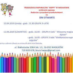 Dni otwarte w Przedszkolu HAPPY
